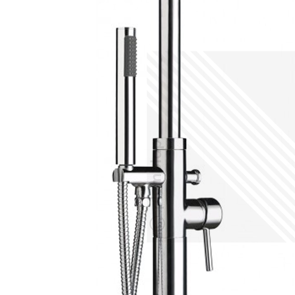 Premier Floor Free Standing Bath Shower Mixer | Single Lever Tap Handset  Chrome ...